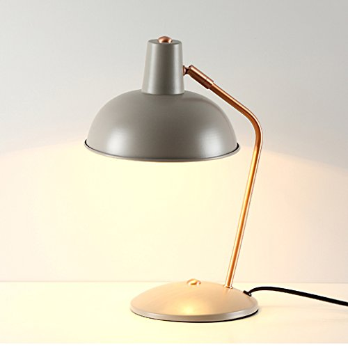 Nordic créatif simple personnalité chambre moderne bureau de bureau bureau de bureau apprentissage lampe de protection des yeux (taille: 20 * 37, couleur: gris)