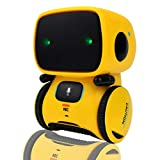Yoego Kids Interactive Robot Toy, Intelligent Voice Controlled Touch Sensor Robotics with Repeating, Voice Recording, Singing, Dancing, Best Partner for Boys Girls (Yellow)