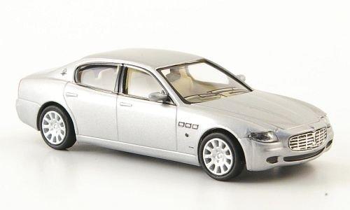Maserati Quattroporte, silber, 2003, Modellauto, Fertigmodell, Ricko 1:87