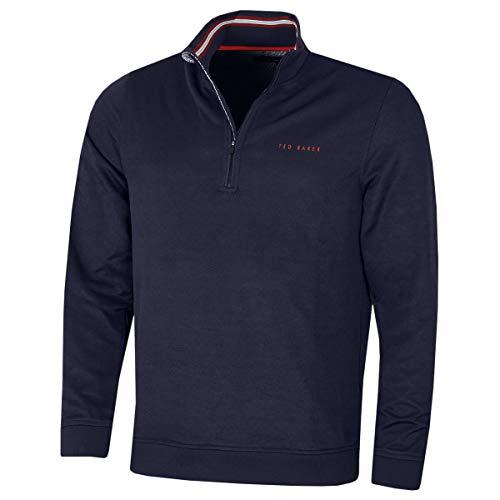 Ted Baker Mens 2020 Ryda Midlayer Comfort Stretch Quarter Zip Golf Sweater