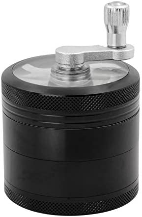 DCOU Hand Cranked Premium Grinder Unbreakable Aluminum Grinder for Herb and Spice 4 Parts 2.2 Inch