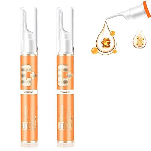 BPINYAWLDD 15ml Instant Blemish Removal Gel Vc Whitening Peckle Serum Ilumina La Piel, Vc Serum Brighten Skin Care Cream Crema para Blanquear La Piel, Vc Whitening Peckle Serum Ilumina La Piel (2Pcs)