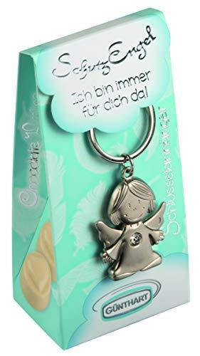 Pralinenbox mit Schlüsselanhänger | Schutzengel | Pralinen: weiße Schokolade gefüllt mit Nougatcreme (43,5%).