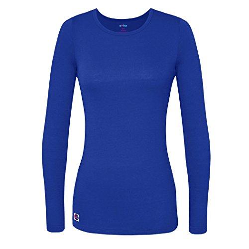 Sivvan Women's Comfort Long Sleeve T-Shirt/Underscrub Tee - S8500 - Royal Blue - 2X