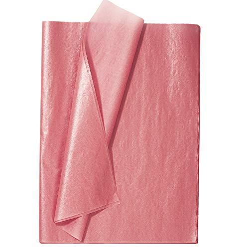 Seidenpapier für Geschenkpapier, 100 Blatt, Roségold, Metallisches Geschenkpapier für Hochzeiten, DIY, 50 x 35 cm
