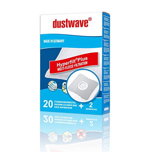20 stofzuigerzakken + 2 filters voor Aldi stofzuiger actie Severin S'Power BC 7046 van dustwave® vervangt Swirl DD9 / Y101 / Y191 / Y201 / Y50 / Y93 / Y95