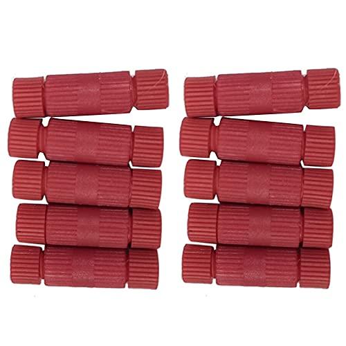 Mogzank Conectores RáPidos de 10 Piezas, 600 Cables Rojos de Calibre 18-24, Conectores, Conectores de Terminales de Cables EléCtricos