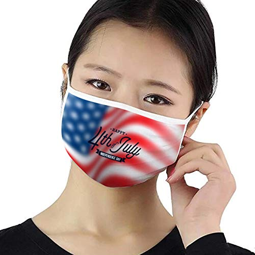 PATRIOTIC FACE MASK | July 4th Print | Adjustable Fit | 3 Ply Cotton Mask