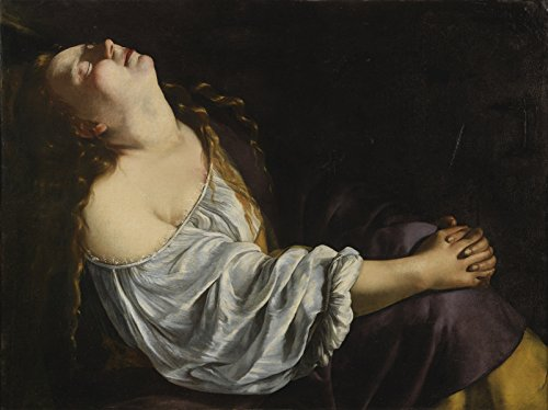 Artemisia Gentileschi - Mary Magdalene in Ecstasy, Size 18x24 inch, Poster Art Print Wall décor