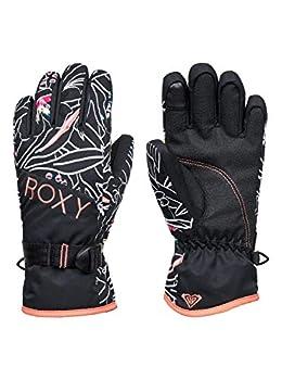 Roxy Girls Jetty-Snowboard/Ski Gloves 8-16 True Black Outlines L