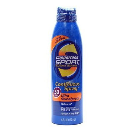 Coppertone Continuous Spray Spf #50 Sport 180 ml Sweatproof (Continuous Spray)