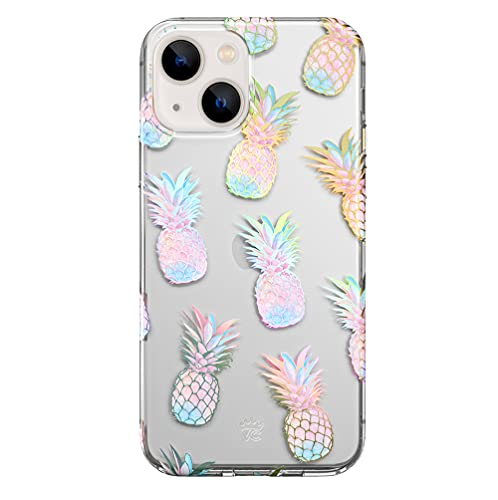 Velvet Caviar Compatible with iPhone 13 Case Holographic Pineapple [8ft Drop Tested] Protective Clear Cases