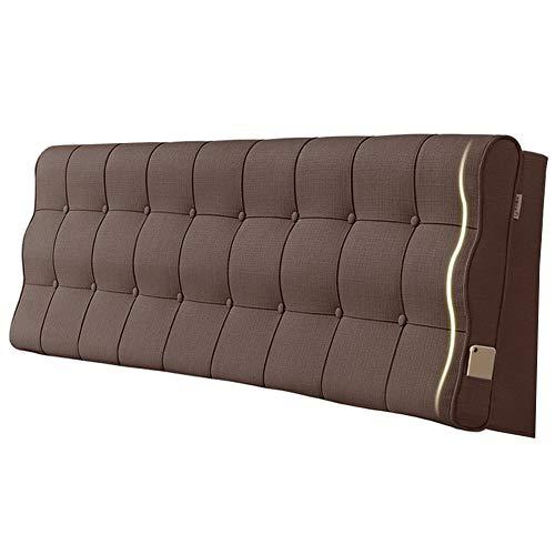 Idong nachtkastje, robuust, kleur tattami, nachtkastje, rugkussen, hoofdeinde, wasbaar, Idong 90x10x60cm F