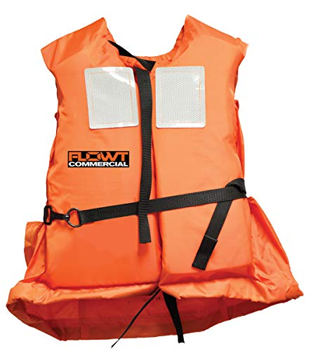 FLOWT Type I Commercial Off-Shore Life Vest – USCG Approved, Universal Adult, Orange