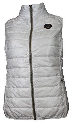 Napapijri Damen ACALMAR WOM Vest Jacke, Weiß (Bright White 002), 38 (Herstellergröße: M)