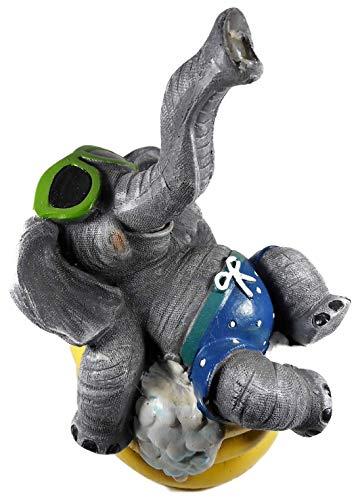 Tierfiguren GODE B22 - Figura de elefante con gafas de sol en flotador (21 x 15 cm)