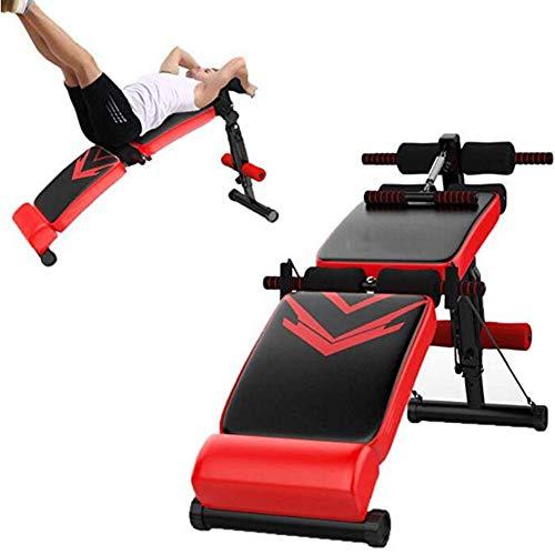 JIANFEI Aparato De Abdominales Gimnasio En Casa Tabla De Peso Plegable Masculino Hembra Músculo Muslos 500 Kg De Peso (Color : Red)