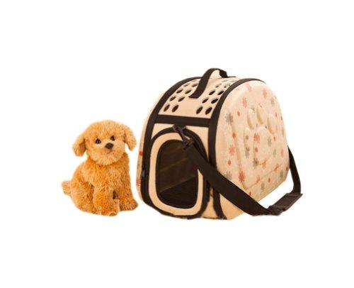 Blancho Sac Portable épaule Pet Carrier pour chiens et chats (42 * 26 * 32cm, JAUNE)