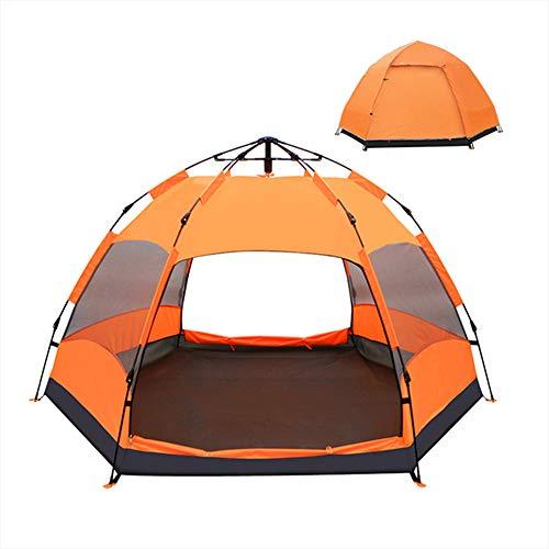 CCISS Tente Totalement Automatique 5-8 Personne ImperméAble Camping Produit D'ExtéRieur Poids LéGer Tente DôMe,Orange