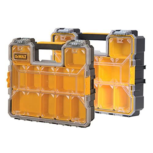 DeWalt Deep Pro Organisers - Tornillos de almacenamiento para herramientas, 2 unidades, color amarillo y negro