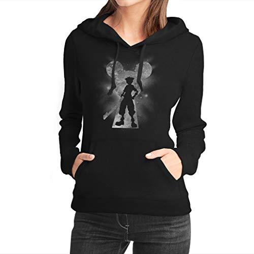 Fanta Universe Destiny Force Kapuzenpullover für Damen, 50 % Baumwolle, FU0043-HW, Schwarz, FU0043-HW M