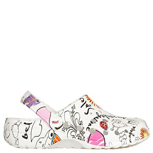 woz? Sabot Cheese Picasso Weiß, Mehrfarbig - Mehrfarbig - Größe: 36 EU