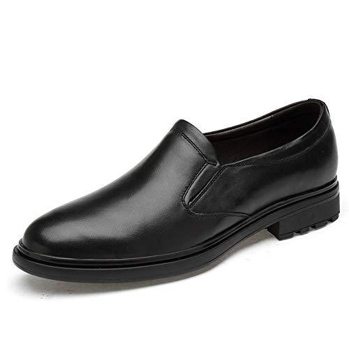 Formaat, plat, ademend, modieus, comfortabel voor mannen, slip-on Oxfords premium echt leer, low top, vrijetijdsschoenen, ronde dop, ademende Oxford-schoen voor heren