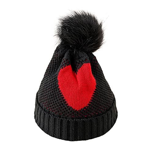 Sombrero infantil unisex para invierno, Navidad, con diseño de cuernos, cálido, protección contra el frío, de peluche, para niños de 2 a 8 años de edad, Nº 04, Talla única