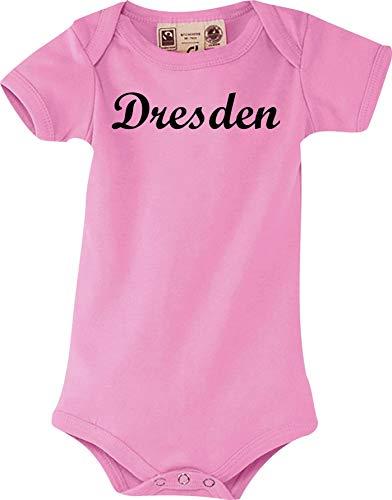 Shirtstown body pour bébé ville de dresde shirts kult taille 0-18 mois - Rose - Rose, 12-18 Monate