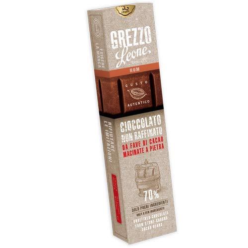Leone Rohe Steingemahlene Schokolade 70%, Rum, 55g.