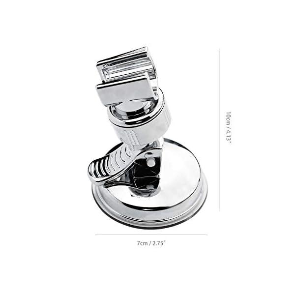 SANTOO Soporte de Ducha Ajustable de Rotación de 360° Con Ventosa Pared Sin Taladroc, Soporte De La Ducha Universal