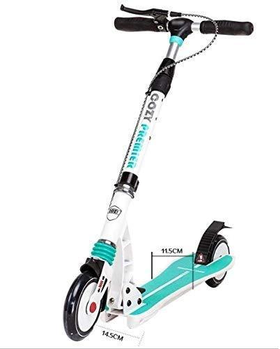 SGSG Faltbarer Scooter für Erwachsene Adult Pedal Scooter Unisex mit Scheibenhandbremse, faltbar, doppelte Federung, Unterstützung 150 kg, Nicht elektrisch, 1