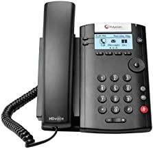 $35 » Polycom VVX 201 2-Line PoE Business Media Phone (2200-40450-025) - Power Supply Not Included (Renewed)