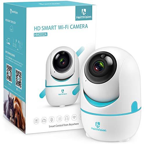 HeimVision 1536P WLAN Kamera Überwachungskamera Innen, 3MP 360°Schwenkbare HD Babyphone mit Nachtsicht, Baby Kamera mit Bewegungserkennung, 2 Wege Audio, Indoor Kamera für Baby/Haustier/Zuhause, weiß