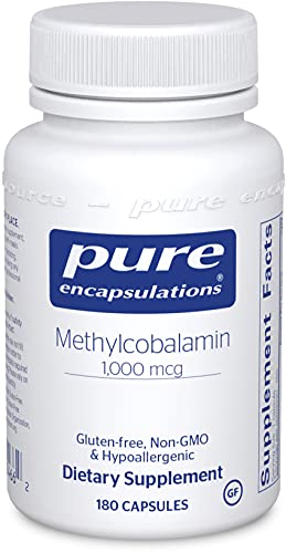 Pure Encapsulations Methylcobalamin 1,000 mcg   Vitamin B12 Supplement to Support Memory, Nerves, and Cognitive Health*   180 Capsules