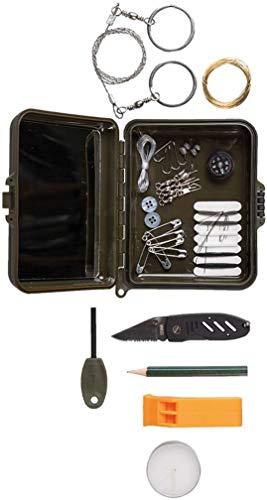 CamoOutdoor Kit de Survie Militaire Mil-tec (Trousse en Plastique)