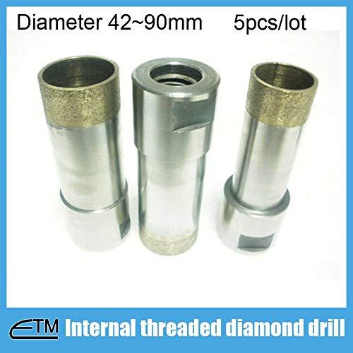 Best Price Xucus 5pcs Sintered internal threaded shank diamond drill bit for glass agate Length 65mm...
