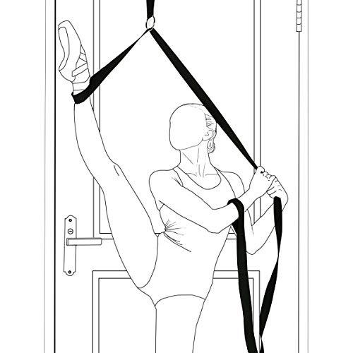 Kitchnexus Yoga Ballett Stretchband Ballett Bein Keilrahmen Fuß Stretch Band Ideal für Tanz, Gymnastik, Pilates