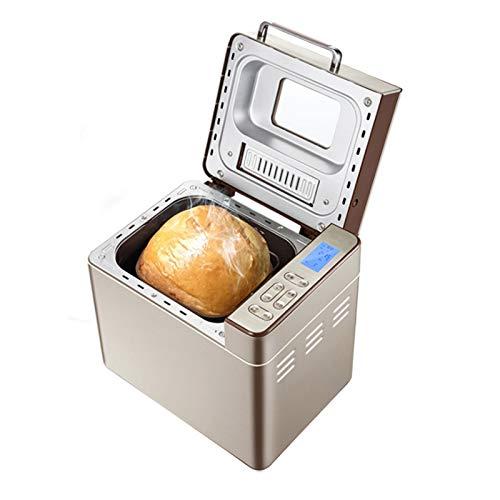 Panificadoras Para El Hogar Máquina Automática Para Hacer Pan De Masa Madre 3 Tamaños De Pan Y 3 Colores Función Calentamiento 1H, 25 Programas 13 Horas Temporizador Retardo, Con Dispensador De Nueces