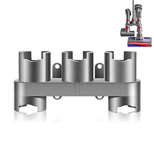 Soporte de accesorios compatible con Dyson V7 V8 V10 V11 soporte para aspiradora, color gris, 1 unidad