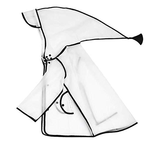 Cap bébé Anti Enfants, Protection de l'école Primaire Raincoat Cap Boy Douche Maman Non Leaking pour prévenir Gouttelettes UV Anti-buée Couverture Visage,b,M