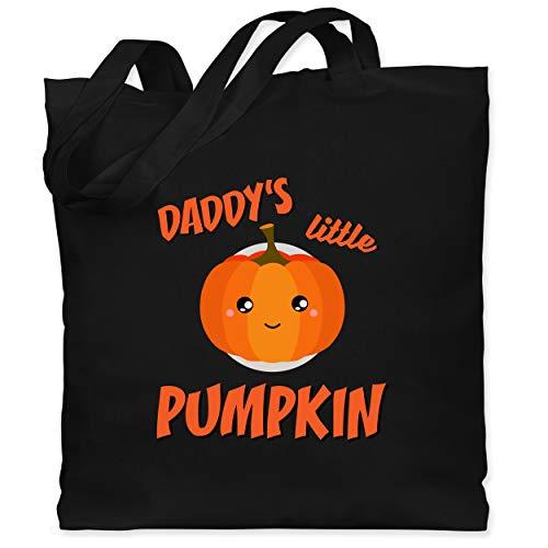 Shirtracer Halloween Kind - Daddys little Pumpkin Halloween - Unisize - Schwarz - Fun - WM101 - Stoffbeutel aus Baumwolle Jutebeutel lange Henkel
