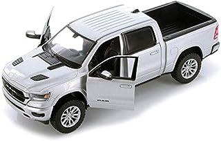 2019 RAM 1500 Laramie Crew Cab Pickup Truck Silver 1/24 Diecast Model Car by Motormax 79357