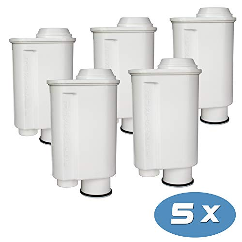 5-pack Wasserfilter für Espressomaschine Kaffeevollautomat kompatibel Philips Saeco Brita Intenza+ Plus CA6706/48 CA6702/00 CA6702/10 Moltio Incanto Exprelia Intelia Lavazza Gaggia A Modo Mio Rondo
