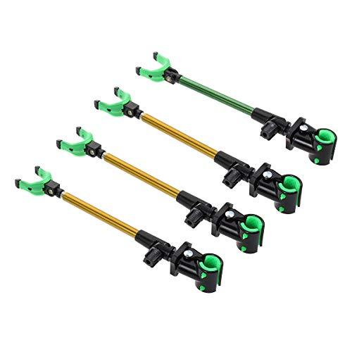 LIOOBO 4 unids Titular de la caña de Pescar Fish Pole Bracket Soporte de la Barra telescópica Luminosa para la Pesca Deportiva