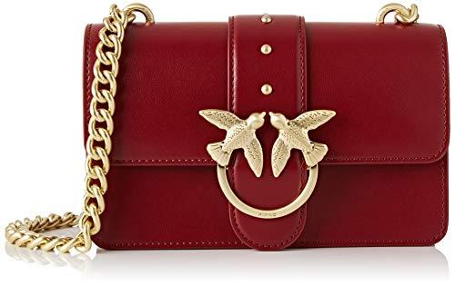 Pinko Mini Love Simply 4, Bolsa de mensajero para Mujer, negro, 6x12.8x20.8 centimeters (W x H x L)