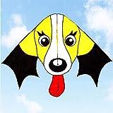 Cometas Para Adultos Cometa Cometas 160X85cm Animal amarillo Orejas grandes Cometa para perros Ripstop Nylon Lovely Puppy Kite con mango Line100m / 300M FFVWVGGPAA F0090015(Color:100m;Size:1.6*1.1M)
