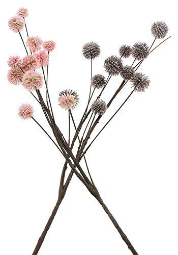 2 Dekozweige Herbstblüten, rosa + lila, ca. 90 cm hoch, Kunstblumen, künstliche Äste, Kunstzweige
