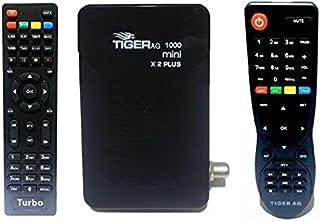 جهاز استقبال ميني اتش دي 1000 × 2 بلس مع بلوتوث وجهاز تحكم تربو من تايجر