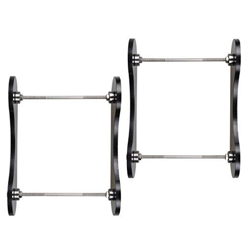 prasku 2x 3D Printer Filament Tabletop Mount Rack Consumables Frame Silk Tray Rack